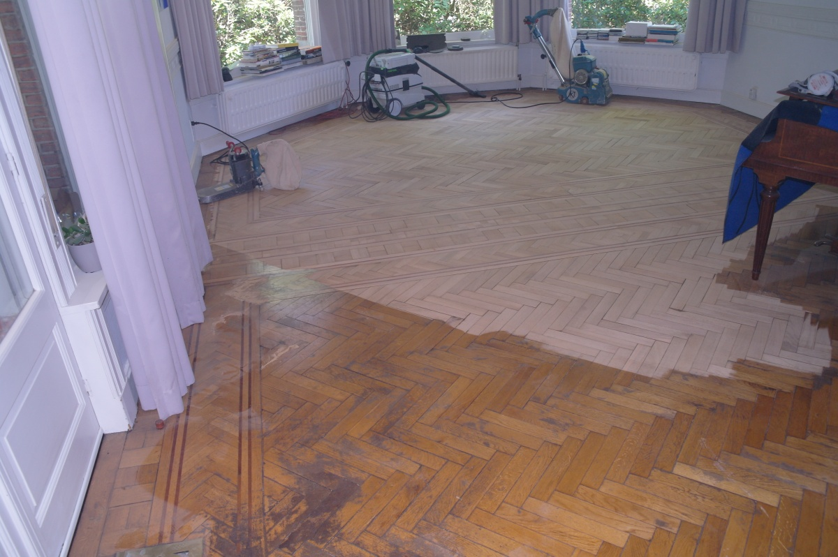 Houten vloer parket renoveren antwerpen turnhout offerte